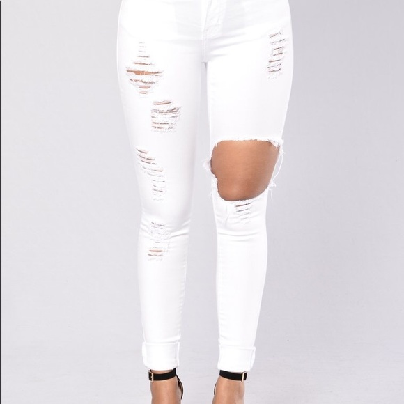 Helmet To govern Hornet  Fashion Nova Jeans | Glistening White Distressed | Poshmark